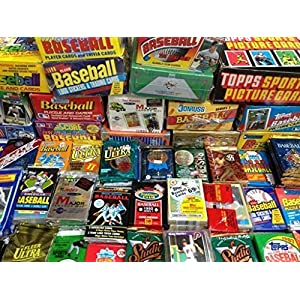 100 Vintage Baseball Cards in Old Sealed Wax Packs Perfect for New Collectors