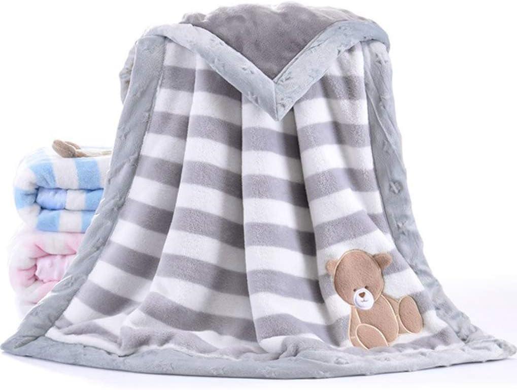 Suave Manta de beb/é dise/ño de Dibujos Animados para reci/én Nacidos YUMU CASA Manta Gruesa de Franela para beb/é de Doble Capa 75 * 100cm//29.5 * 39.4 Inch Franela Rosa
