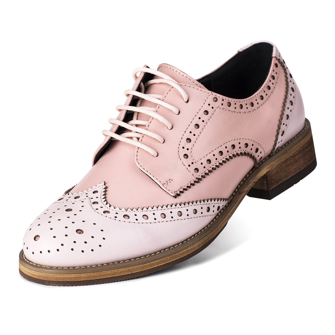 Jivana Women's Casual Leather Shoes Oxford Lace-up
