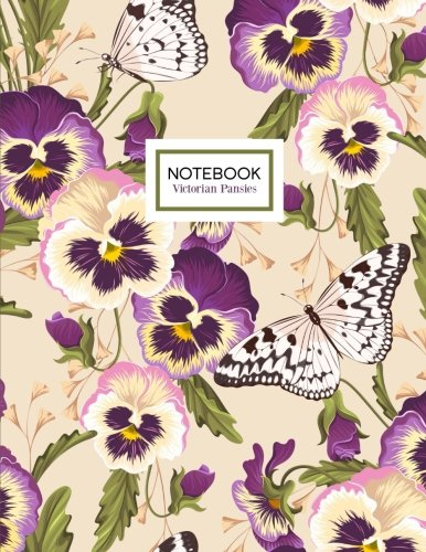 Victorian Pansies Notebook: Pansy Flowers Botanical Notebook Journal