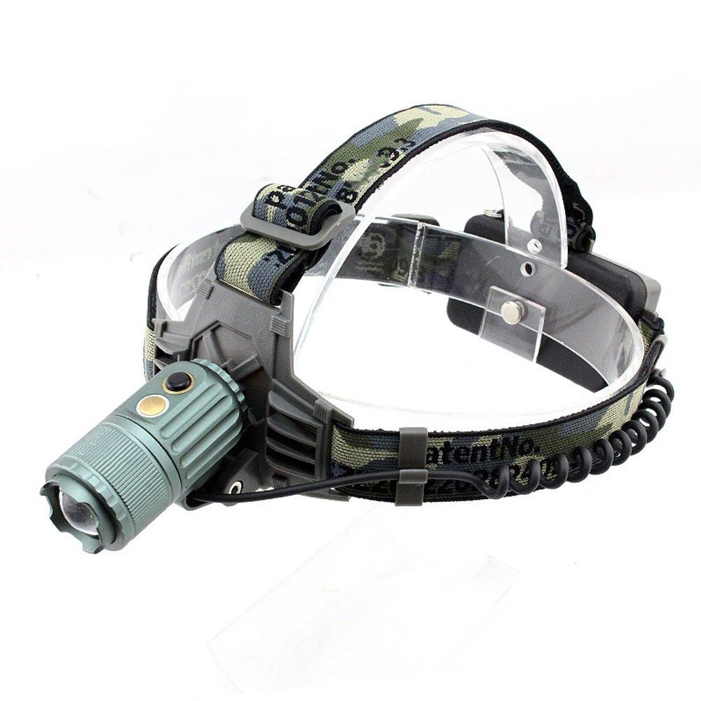 MLMHLMR Starker Scheinwerfer des Im Freien LED, Der Super Helle Automatische Zoom Kopf-angebrachte Taschenlampe Auflädt Taschenlampe