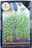 Punch Studio Boxed Set of 4 Green Tea Fragrance Sachets - Royal Blue Peacock 60076