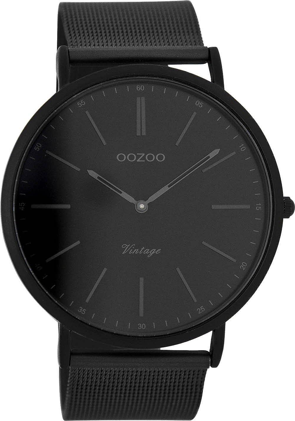 Oozoo Reloj Digital de Cuarzo para Hombre con Correa de Acero Inoxidable – C7384