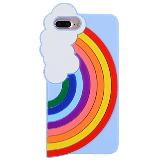on sale 467da 91270 Joyleop Rainbow Case for iPhone 6 6S 6g,Color Cute 3D Cartoon Colorful  Cover,Lovely Kids Girls Lady Soft Silicone Rubber Cool Kawaii Character  Fashion ...