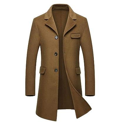 GKKXUE Abrigo cálido de Hombre de Punto Medio Chaqueta Cortaviento Delgada de Doble (Color :