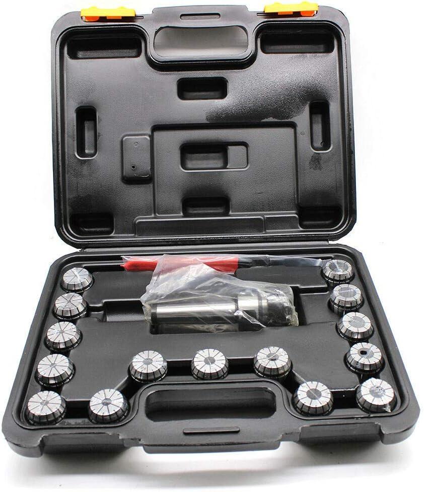 RANZIX 15Tlg ER32-Spannzangenset Spannzangen Satz 3-20 mm MK3 M12 BT Aufnahme Im Kasten