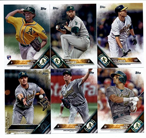 2016 Topps Series 2 Baseball Oakland Athletics Team Set of 10 Cards in 4-Pocket Collector