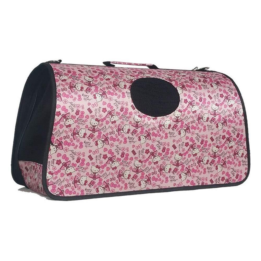 F 37X18X22CM F 37X18X22CM Qi Peng Pet Bag Cat Bag Out Carrying Bag Pet Bag Travel Bag Teddy Bomei Portable Diagonal Bag Cat Folding Breathable Cage Pet Bag (color   F, Size   37X18X22CM)