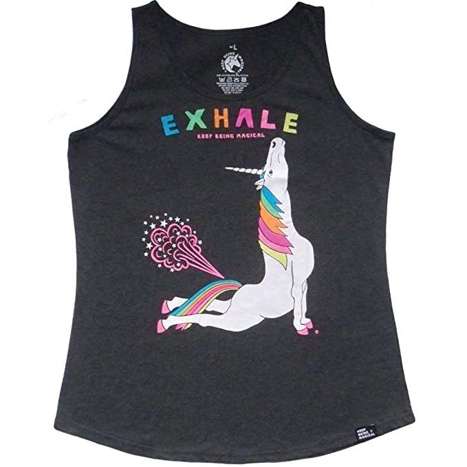Amazon.com: Yoga Unicorn Cobra Pose Exhale - Camiseta de ...