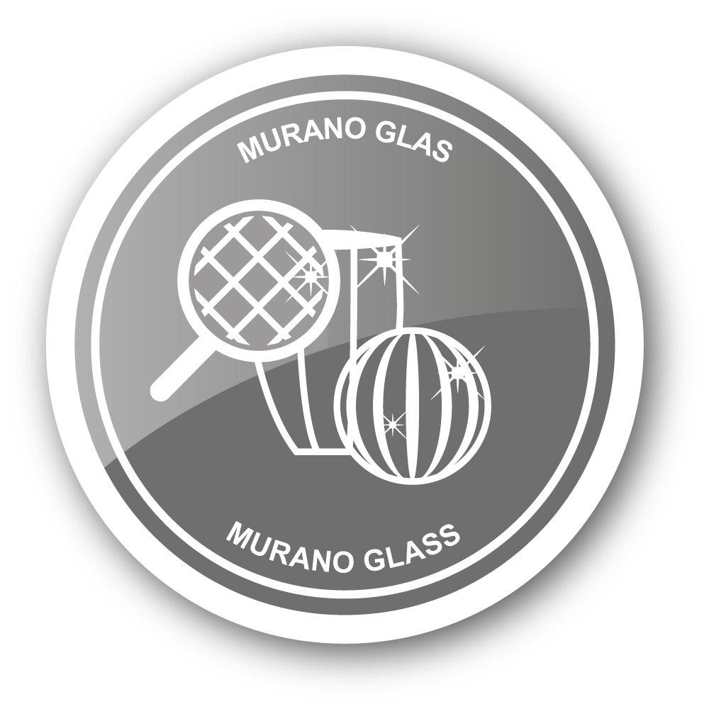 Wein und Sekt Handarbeit 11 cm hoch EDZARD Flaschenverschluss Eule f/ür Champagner Muranoglas-Technik
