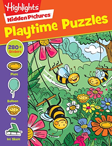 Playtime Puzzles (HighlightsTM Sticker Hidden Pictures)