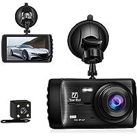 "Dash Cam Dashboard Camera Recorder Rear Camera-4"" Full HD 1080P Car DVR Dashboard Camera G-Sensor, Loop Recording, WDR, Parking Guard [Upgraded Version]"