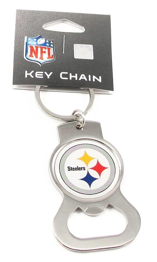 Amazon.com   Pittsburgh Steelers Bottle Opener Key Ring - NFL ... 2633f672b