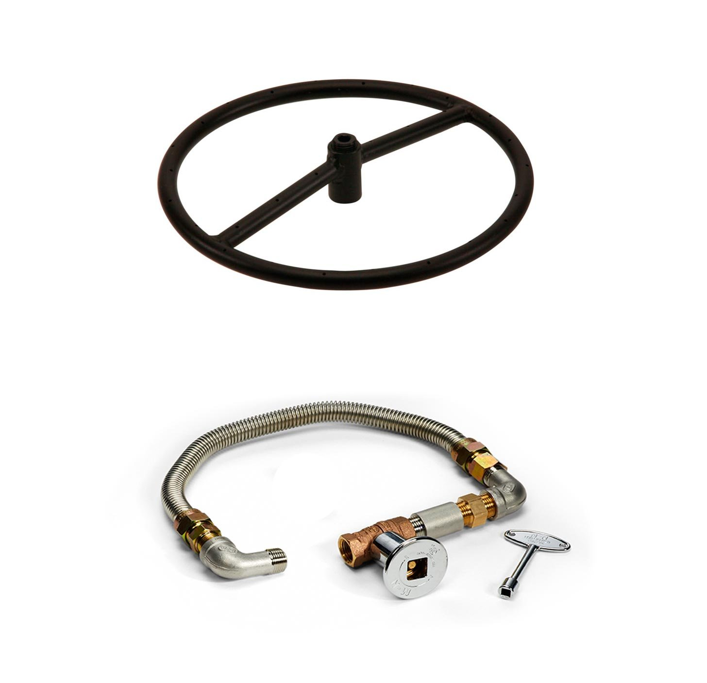 Hearth Products Controls Match Light Fire Pit Kit (FP12 KIT), 12-Inch, Natural Gas by Hearth Products Controls