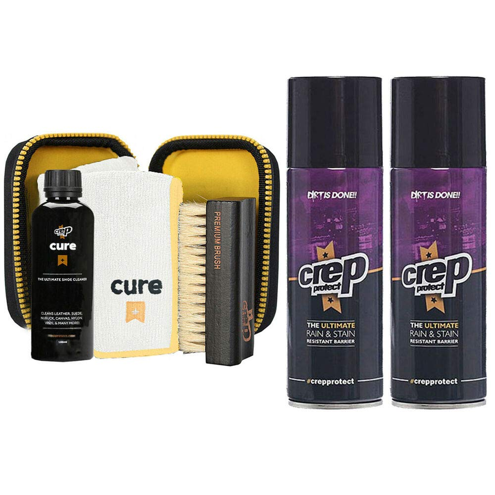 Crep Protect Cure Travel Kit + 2 Rain'' Stain Shoe Spray (Combo) Sneaker Kicks S by quickly store