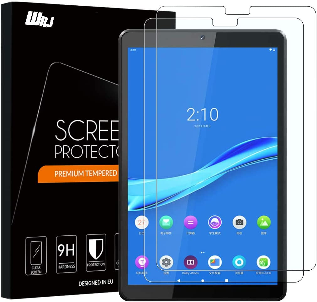 [2-Pack]WRJ Screen Protector for Lenovo Tab M10 Plus FHD 10.3 inch,HD Anti-Scratch Anti-Fingerprint No-Bubble 9H Hardness Tempered Glass
