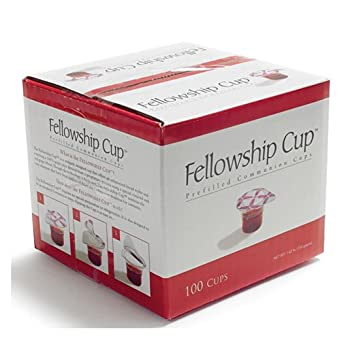 Fellowship cup,Prefilled communion cups juice/wafer-100 cups (net wt 1 62  lb) by BROADMAN