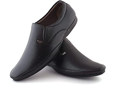 98b9a030c3d95 Walkshoe Men's Synthetic Leather Slip-On Shoes Fashion World Men's Faux  Leather Formal Shoes Black Synthetic Leather Formal Slip on Office, College  ...