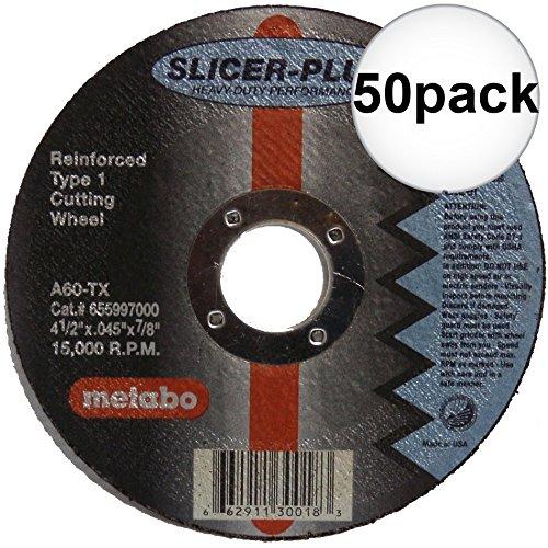 Metabo 55998 SLICER-PLUS High Performance Cutting Wheel 50-Pack