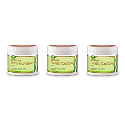 (PACK OF 3) Sof N Free Gro Healthy Nothing But Cleansing Conditioner, 16 Ounce