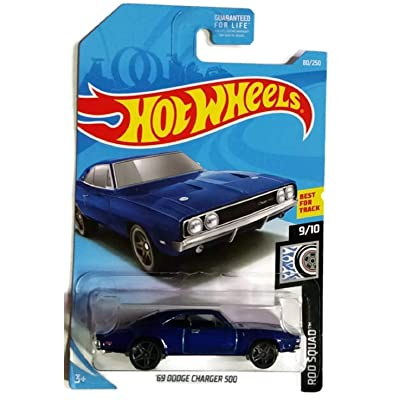 Hot Wheels Rod Squad 9/10 - Blue '69 Dodge Charger 500 #80/250: Toys & Games