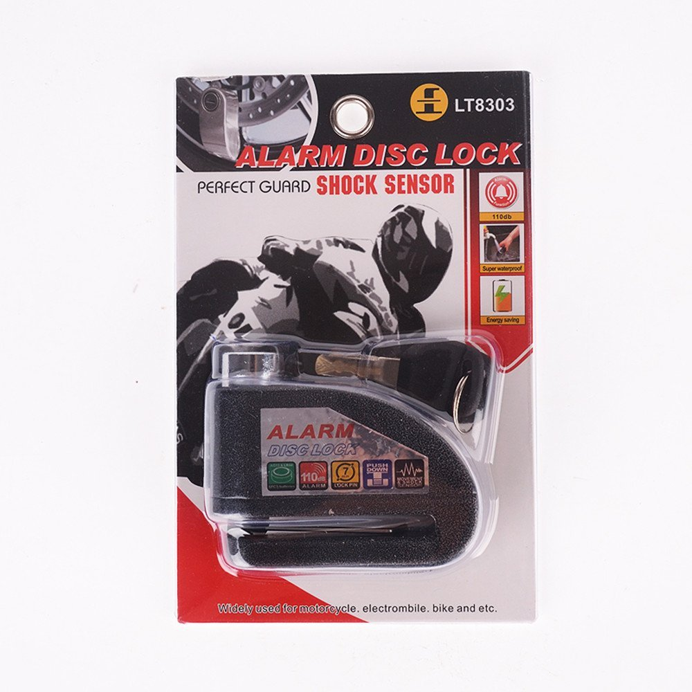 Bears Motorcycle security Disc Lock Anti Thief throttle Alarm chain lock
