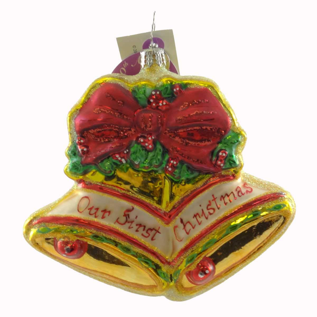 Christopher Radko OUR FIRST CHRISTMAS 2005 Glass Ornament Christmas Bells Dated