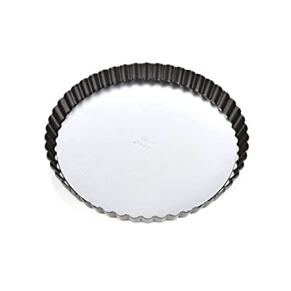 "8 Non-Stick Fluted Tart Flan Pan Flan Tin/Quiche Pan with Loose Base 10""/8"""