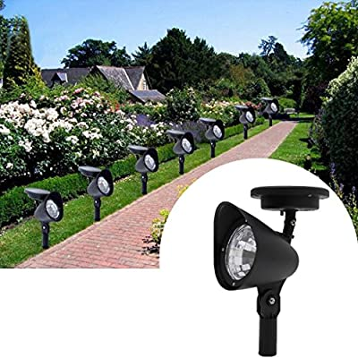 Onpiece 3 LED Adjustable Solar Spot Light Landscape Garden Green Lawn Path Lamp Outdoor White Night