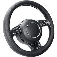 SEG Direct Couvre Volant Noir Microfibre Cuir Pour Prius Civic 35.5-36 cm