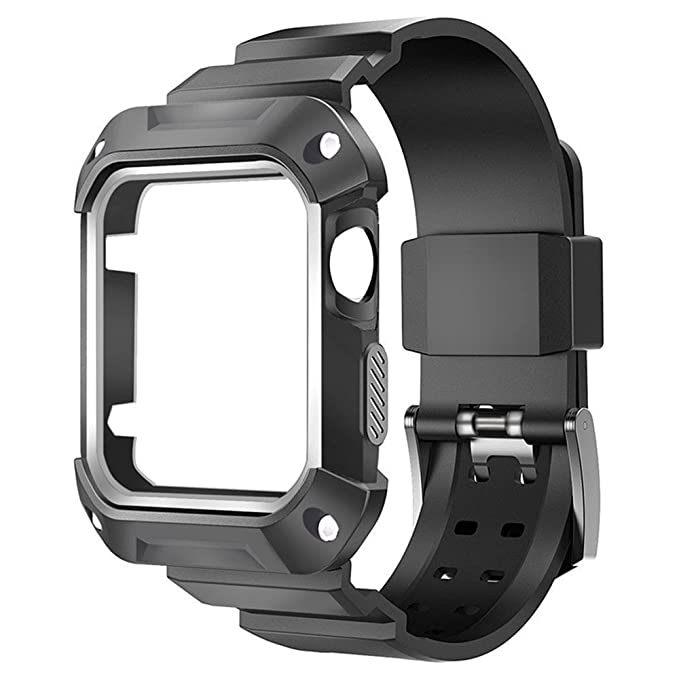 3 opinioni per Bandmax Watch Band Full Body Rugged Protective Bumper Case with Sport Wrist Band