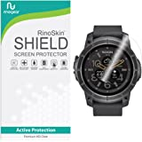 [6-PACK] RinoGear for Nixon the Mission Screen Protector [Active Protection] Full Coverage Flexible HD Invisible Clear Shield Anti-Bubble