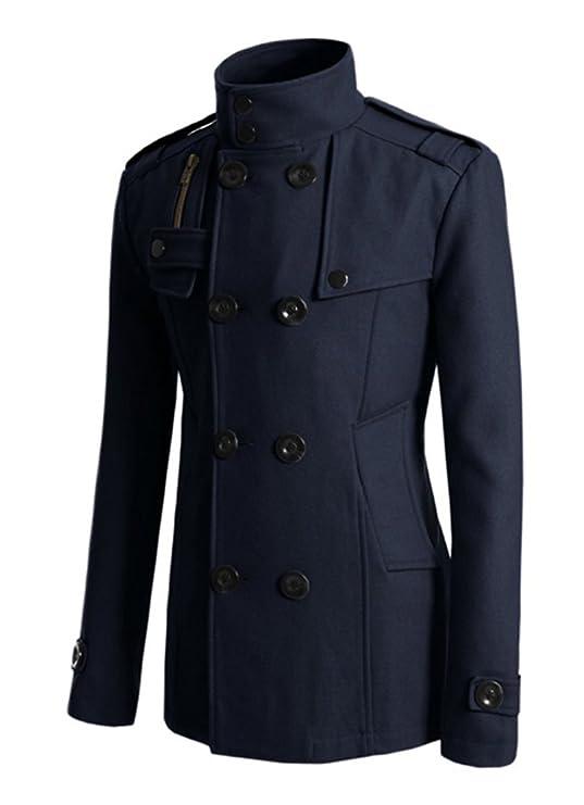 LOBTY Herren Winterjacke Männer Herren Jungen Langarm Cabanjacke Reverskragen Trenchcoat Mantel Kurzmantel Jack Anzug
