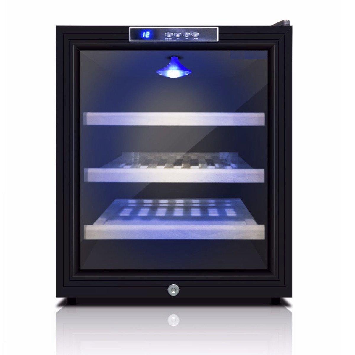 Game Room Mini Wine Refrigerator | Bar Fridge | KingsBottle 11 Bottle Storage Free Standing compatible Wine Fridge - KBU52WBP
