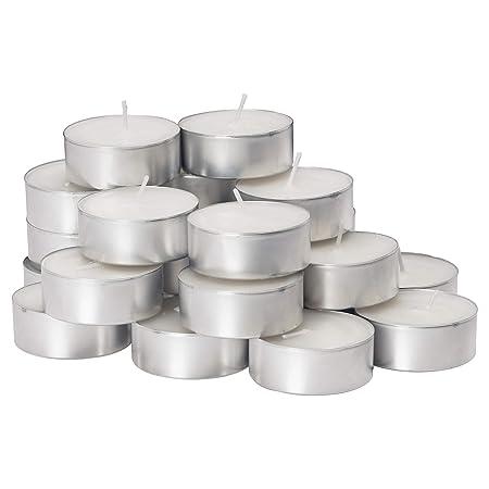 Divena Aluminum Smokeless 4.5 hrs Burning Tea Light Candles - Set of 50 Pcs