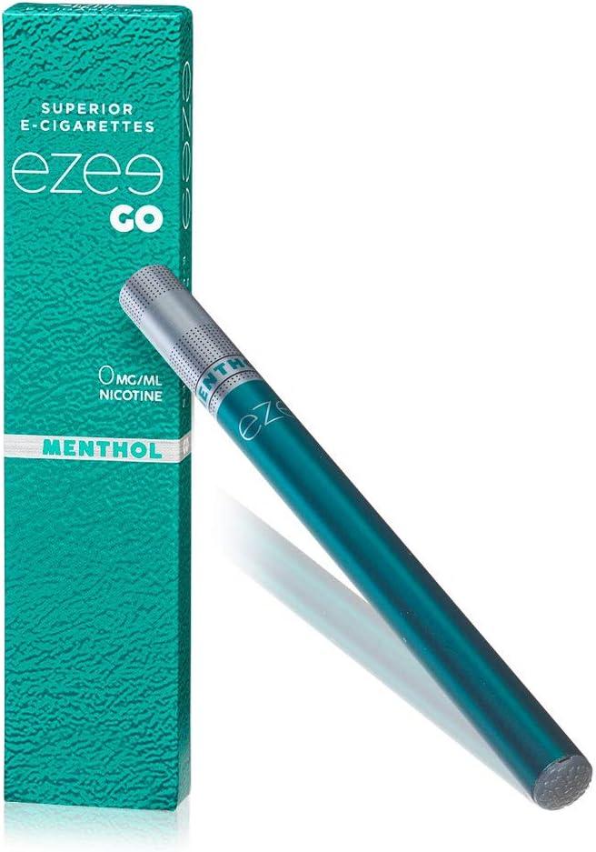 Ezee e-cigarettes Cigarrillo Electrónico Desechable Sabor a Mentol E-Cigarrillo Boquilla Suave 285 mAh Batería Sin Nicotina y Sin Tabaco Paquete de 1