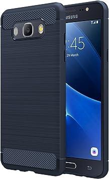 Simpeak Funda Compatible con Samsung Galaxy J5 2016, Azul Silicona ...