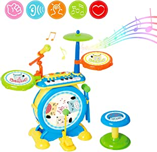 deAO Conjunto Rock and Roll de Juguete Instrumentos Electrónicos ...