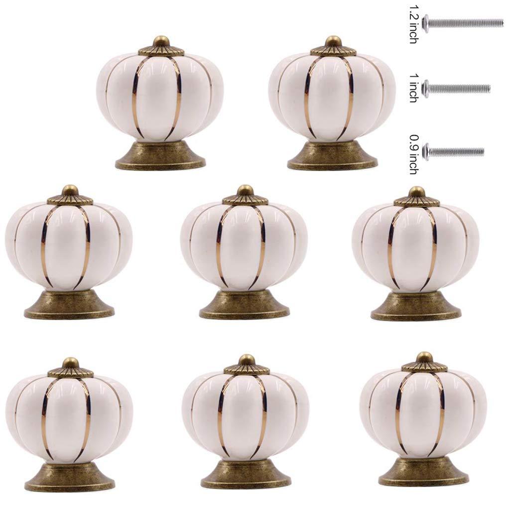 8 Tiradores de Ceramica / Porcelana (7F3X3K14)