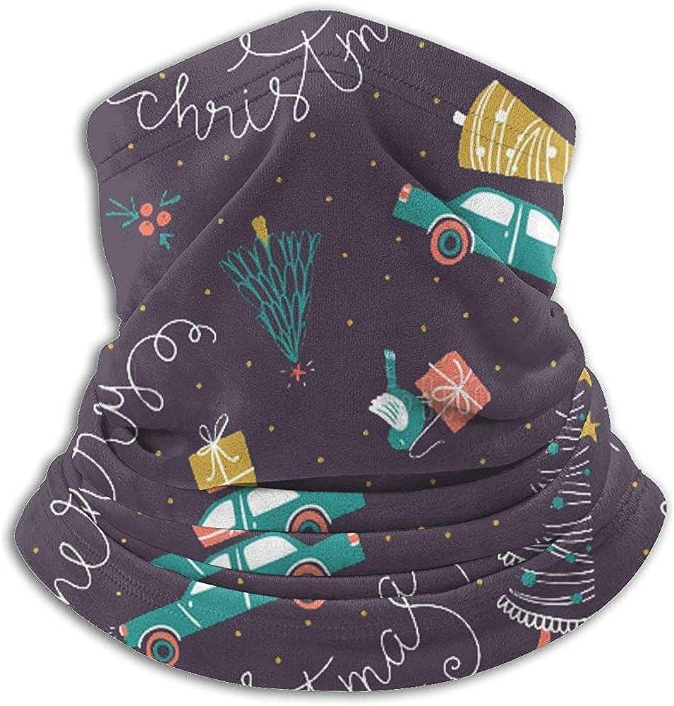 Fanqi Coches navideños, regalos Abetos Invierno Calentador de cuello Polainas Cinta para el cabello Tubo Máscara facial Bufanda térmica para el cuello Protección UV al aire libre