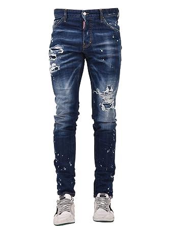 2d8ec723adf Amazon.com: DSQUARED2 Blue Men Skinny Cool Jean S74LB0420 S30342 470 ...