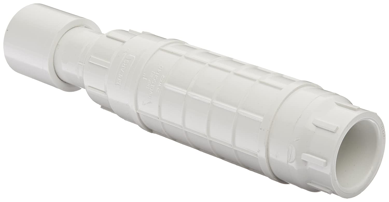 Spears S119 Series PVC Pipe Fitting Repair Coupling with EPDM O-ring White 2-1//2 Socket