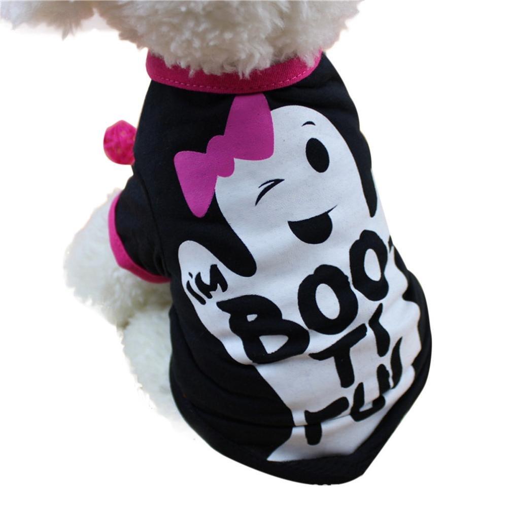 Haustierkleidung, Nettes Hundekleidung Haustier Cool Halloween t-Shirts Kleidung Small Puppy Kostüm von Sannysis Amonfineshop_2586