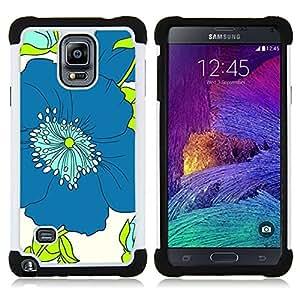 For Samsung Galaxy Note 4 SM-N910 N910 - art drawing minimalistic blue Dual Layer caso de Shell HUELGA Impacto pata de cabra con im??genes gr??ficas Steam - Funny Shop -