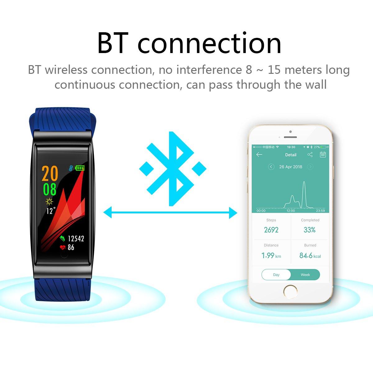 Sxfcool Smart Pulsera Multi-Modo de frecuencia Cardiaca a Prueba ...
