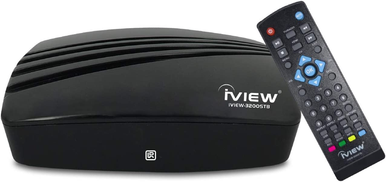 IVIEW-3200STB-N Digital Converter Box Digital to Analog, QAM Capabilities, with TV Recording Function ATSC HDTV Converter Box HDMI 1080P USB