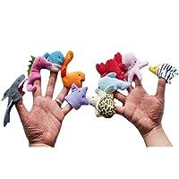 RUNFON 10pcs Marionnettes à Doigts Animaux Jouet Mariottes Peluche pour bébé Enfant