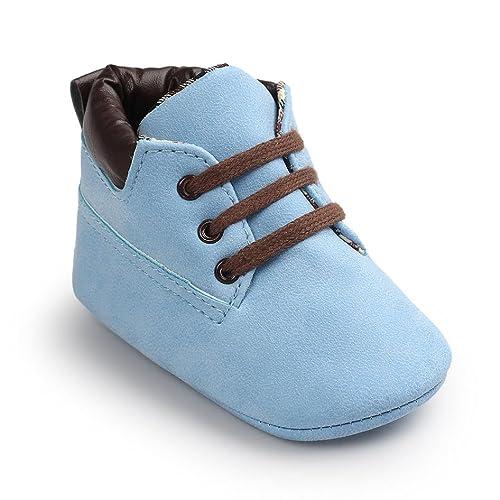 FNKDOR Baby Jungen Mädchen Lauflernschuhe Rutschfest Weiche Schuhe für Neugeborene 0 18 Monate