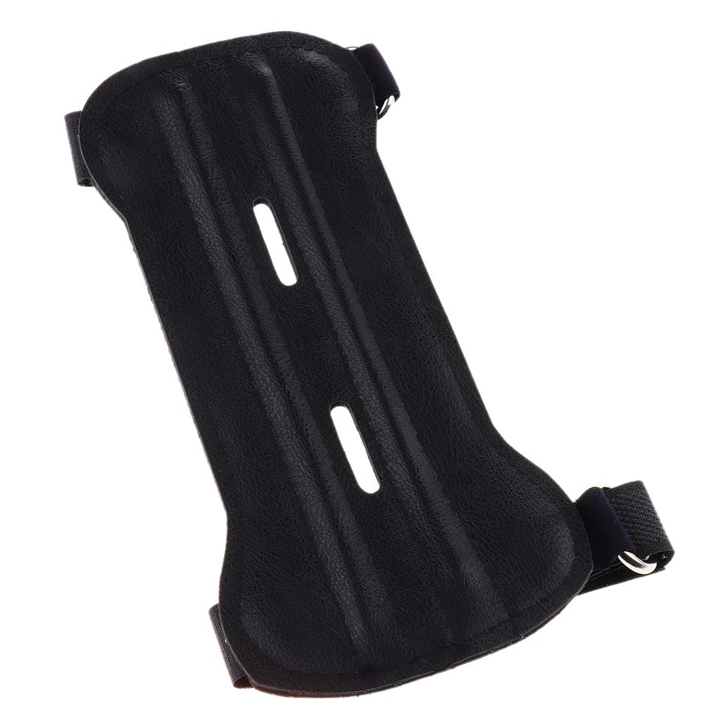 KESOTO PU Leather Archery Arm Guard Bow Shooting Arm Protection with 2 Adjustment Buckle Straps
