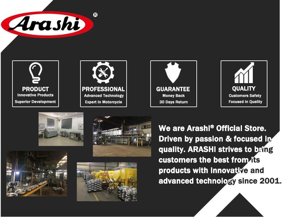 Arashi Front Brake Disc Rotors for Yamaha FJR1300 2001-2004 XJR1300 1999-2017 XV1900 ROADLINER 2006 Motorcycle Accessories FJR XJR 1300 XV 1900 Gold 2000 2002 2003 2005 2007 2008 2009 2010